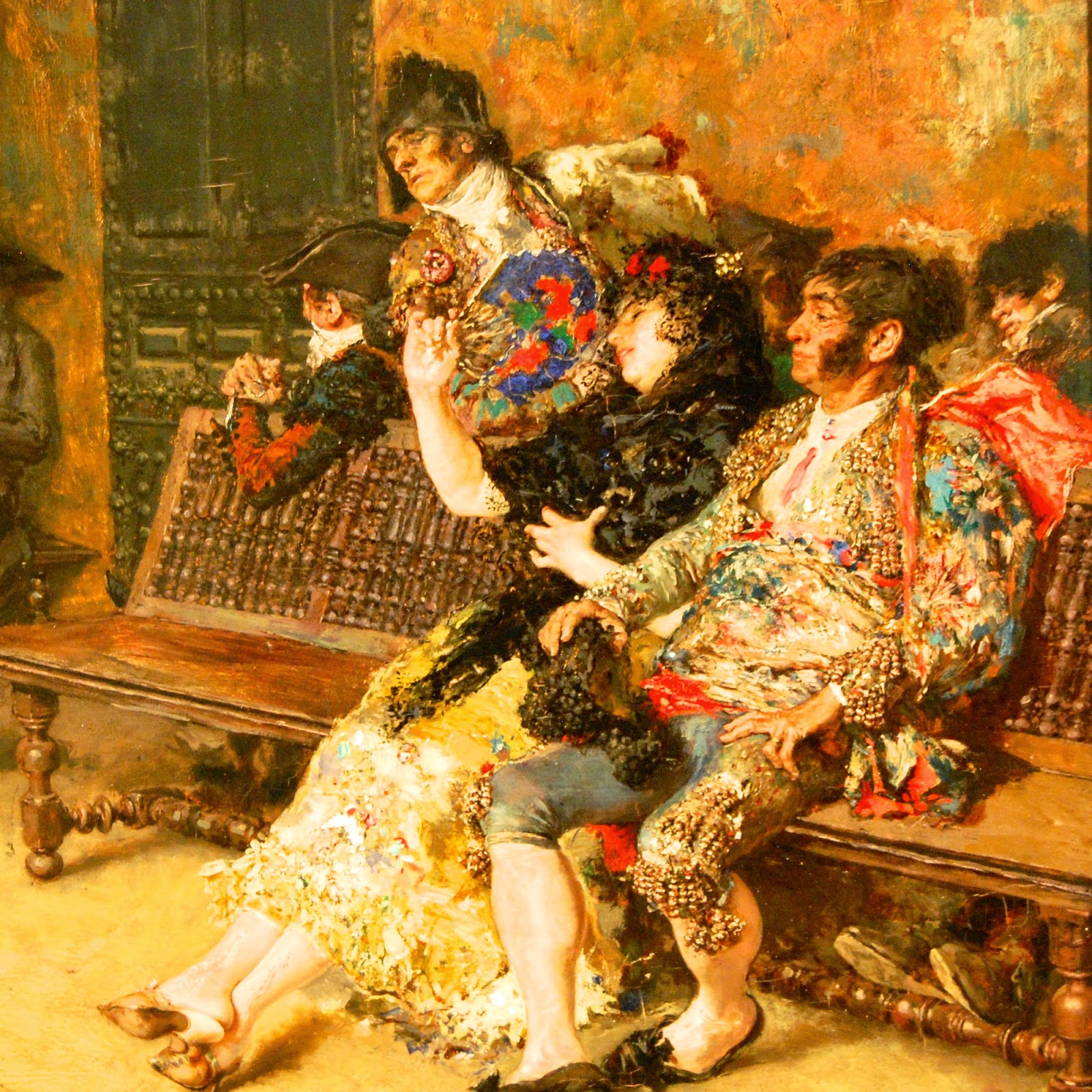 Closeup of The Spanish Wedding, by Marià Fortuny