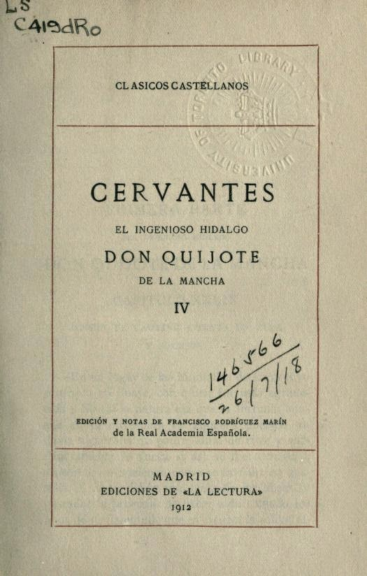 Don Quijote tomo IV