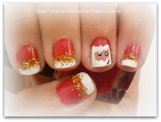 Decoracion De Noel ~   con un dise?o de decoraci?n de u?as muy navide?o lleg? pap? noel
