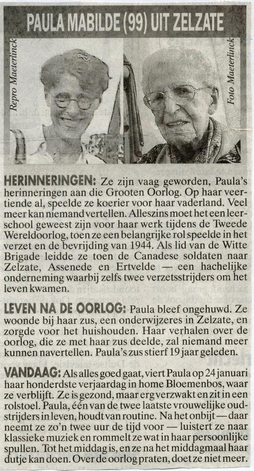Krantenartikel uit 2000