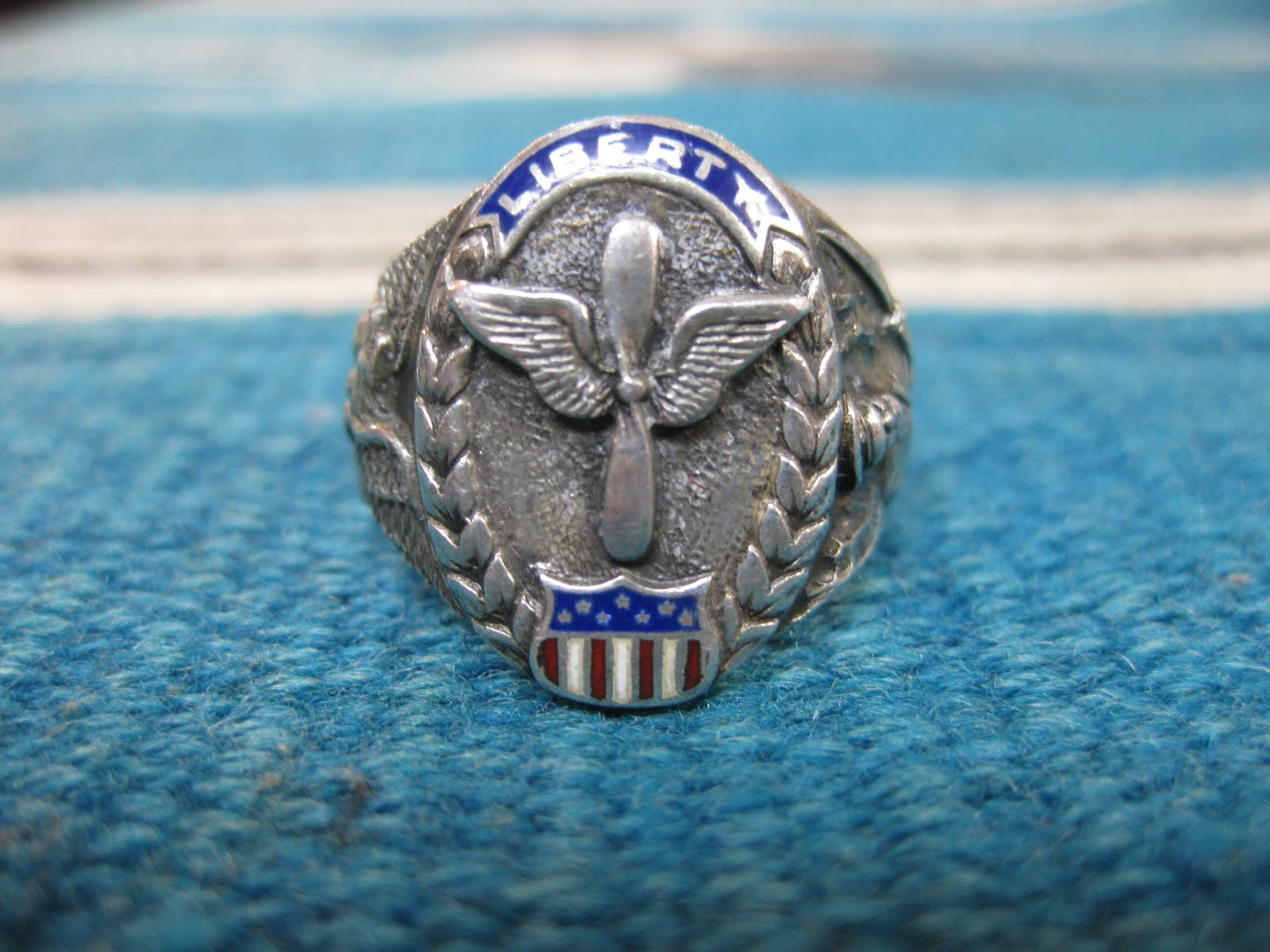 ~40's                U.S.ARMY AIR CORPS                 SILVER RING