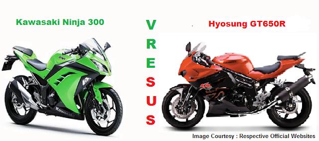 Hyosung GTR650R Vs Kawasaki Ninja 300