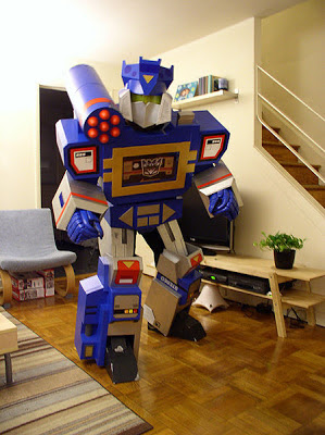fantasias criativas papelao transformers