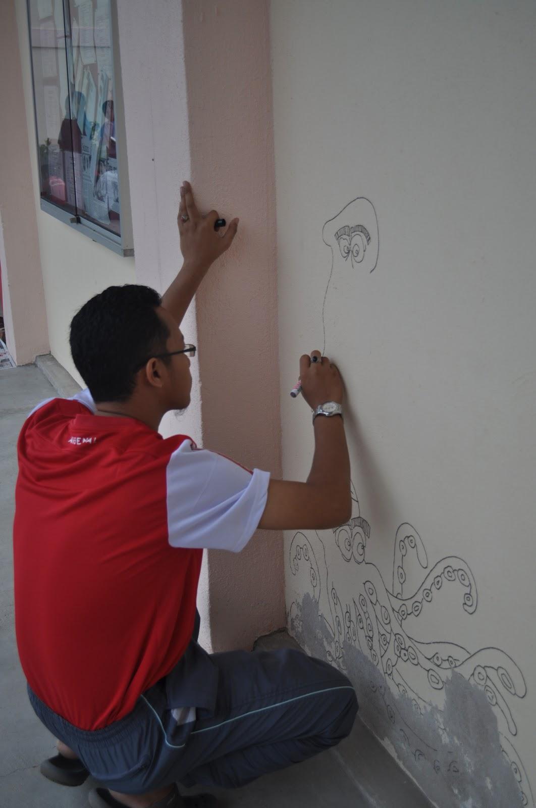 Program pendidikan khas integrasi sk parit penghulu for Mural hidupan laut