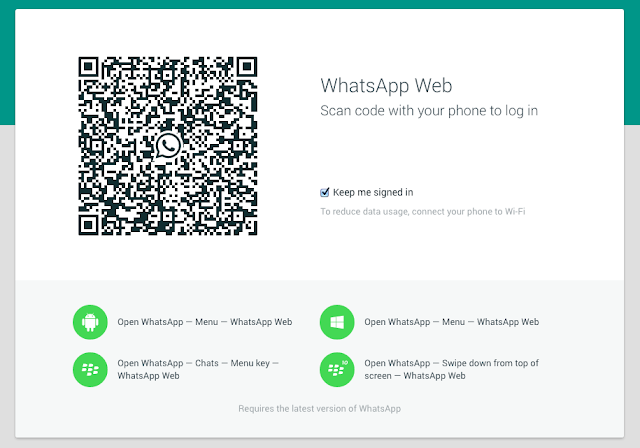 Using Whatsapp on PC via Whatsapp Web
