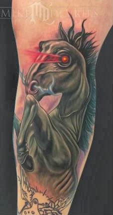 Ideias diferentes de tatuagens de cavalos