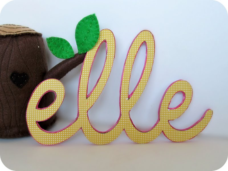 Homemade by jill baby name decor for Baby name decoration