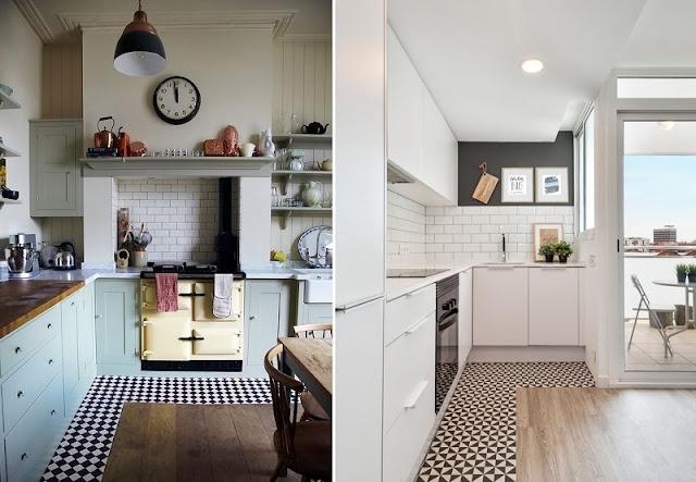 paginação de piso com madeira e geometria