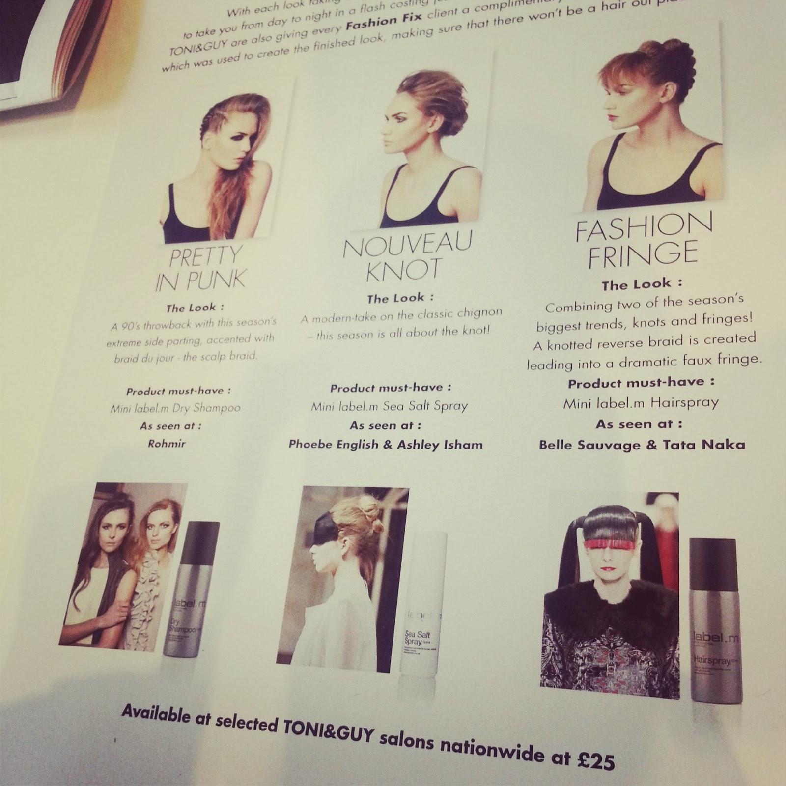 lfw fashion hair