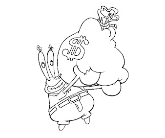 #1 Mr Krabs Coloring Page