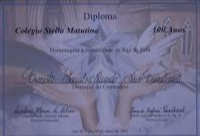 """Troféu e Diploma """"Destaque do Centenário"""""""