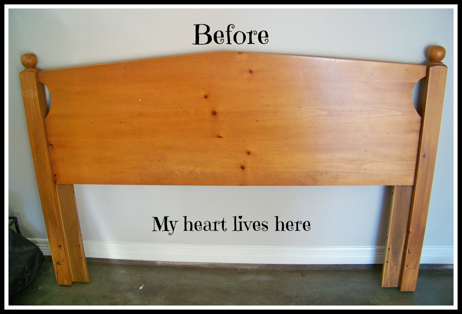 Using clear coat with chalk paint my heart lives here for Painting a headboard