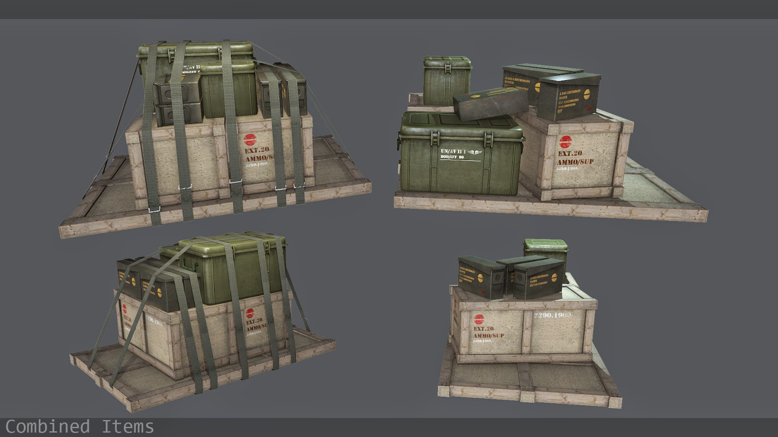 Pallets of Crates/Boxes