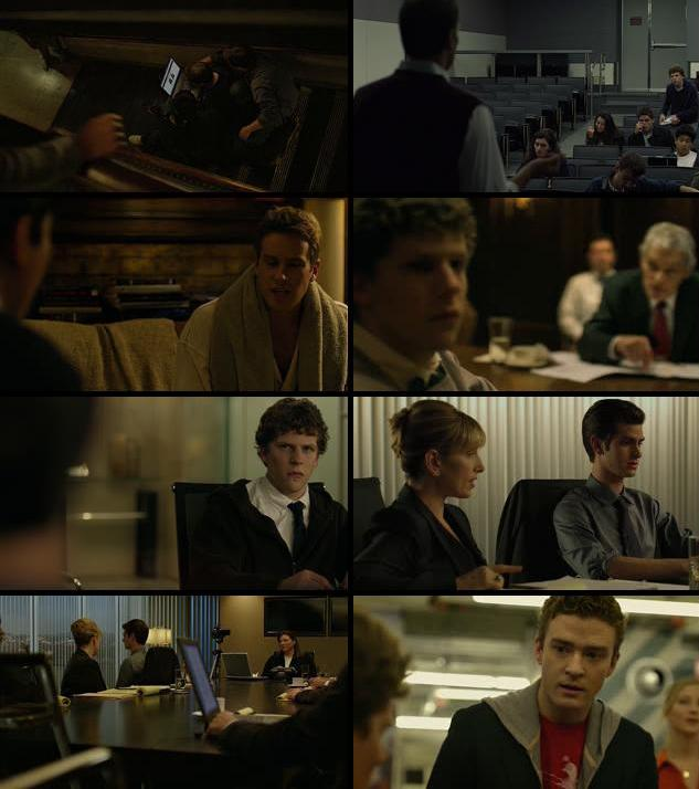 The Social Network 2010 Dual Audio Hindi 720p BluRay 950mb