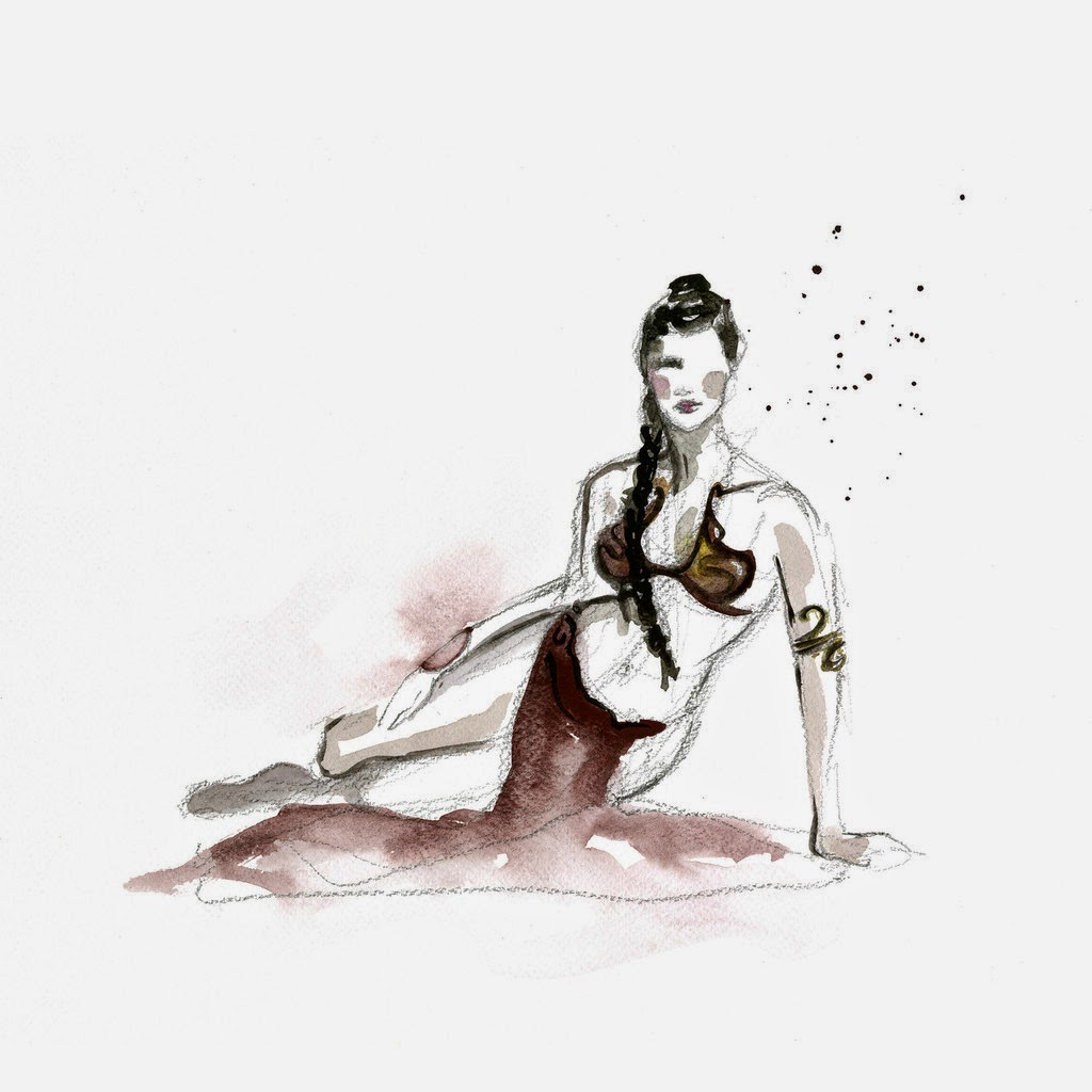 09-Princess-Leia-Organa-3-Carrie-Fisher-Clémentine-Campardou-Blule-Star-Wars-IV-V-VI-Watercolors-www-designstack-co