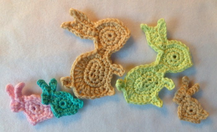 Susans Hippie Crochet New Bunny Applique Pattern From Susany