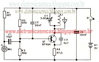 transmissor de FM, BF495, como construir um transmissor FM