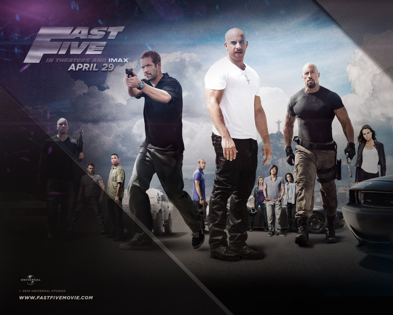 fast five The vehicle is part of the movie: vehicle used a lot by a main character or for a long time: vehicle used by a character or in a car chase: minor action vehicle or used in only a short scene.