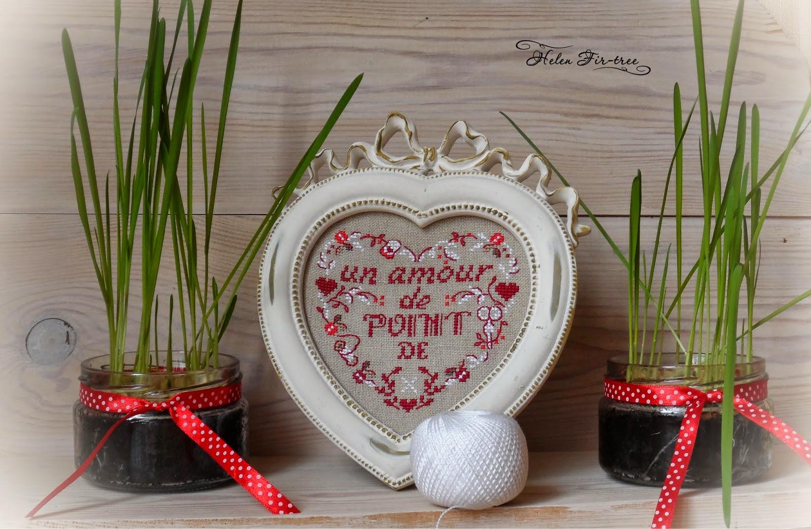 Helen Fir-tree вышивка счётным крестом un amour de point de