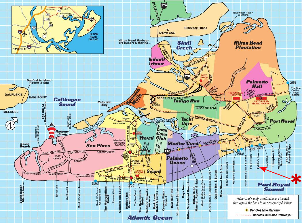 Public Beaches Hilton Head Island Map