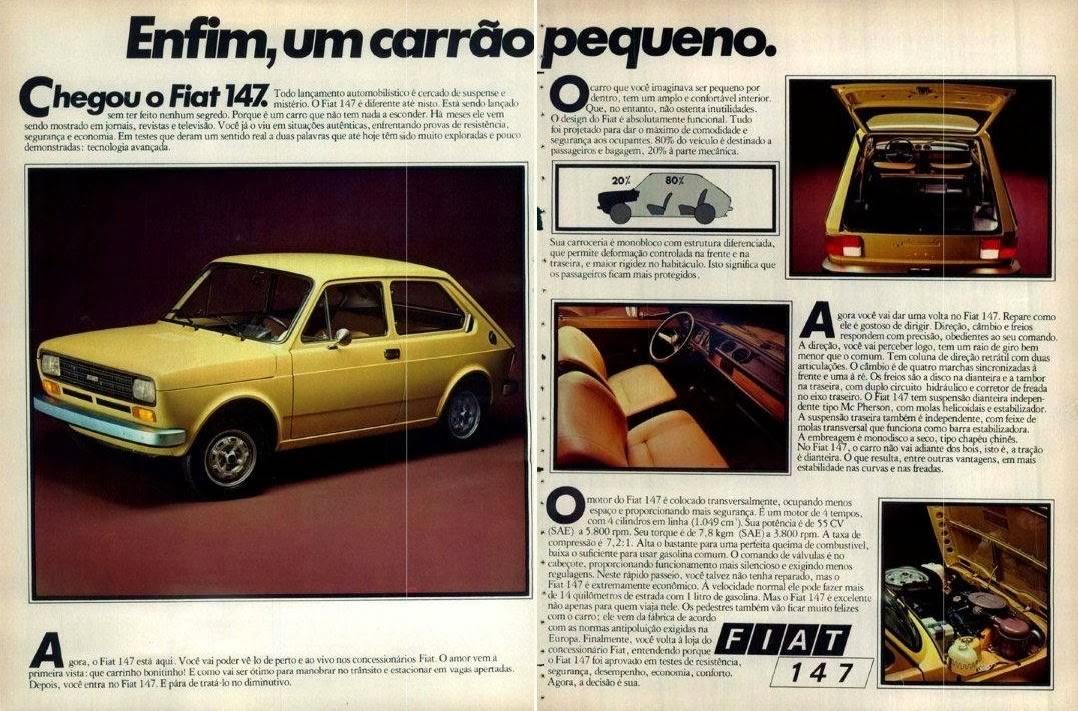 Propaganda de lançamento do Fiat 147