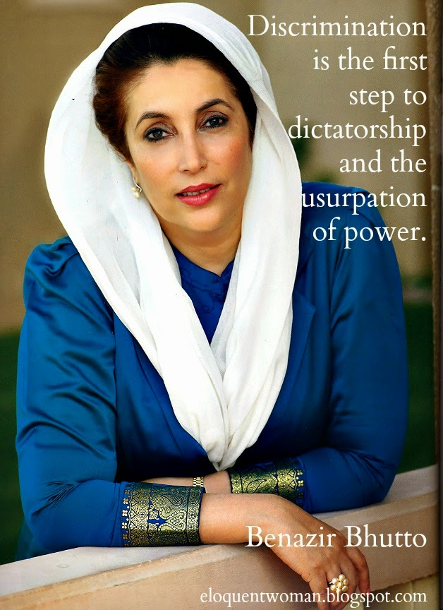 Benazir bhutto male domination of women