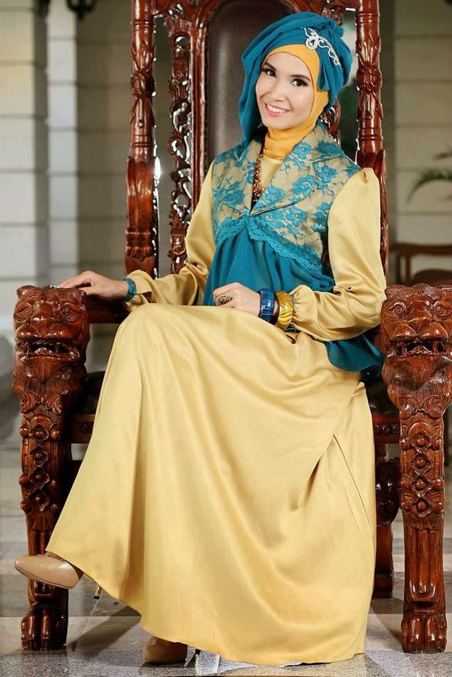 Gaun Pesta Muslimah Modern Terbaru 2014