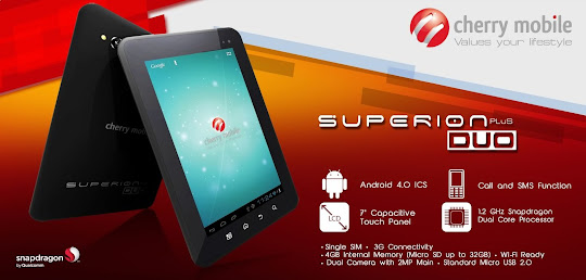 Cherry Mobile Superion Plus Duo: 7-inch ICS Android Dual-Core Tablet for Php 6,999