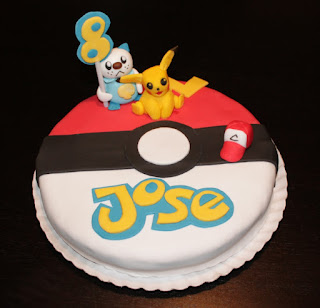 tarta fondant pokemon, tarta pikachu
