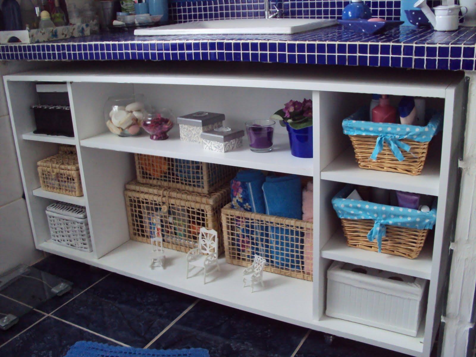 se fosse na minha casa: Gabinete do banheiro (feito pelo marido é  #2E3569 1600 1200