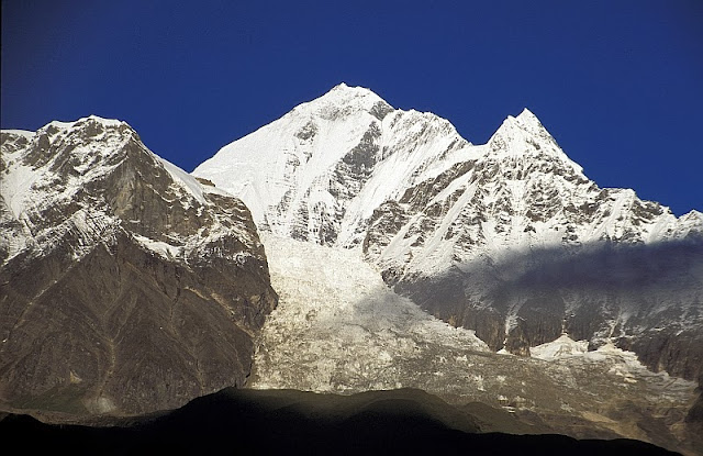 The Dhaulagiri massif with a glacier.
