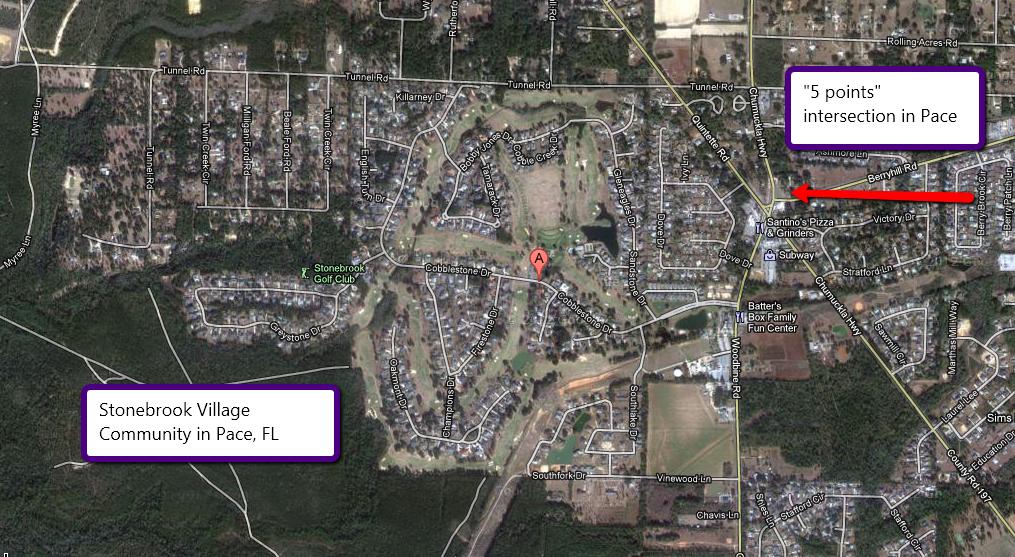 Pace Florida Map.Love To Live In Pensacola Florida Nieghborhood Profile Stonebrook