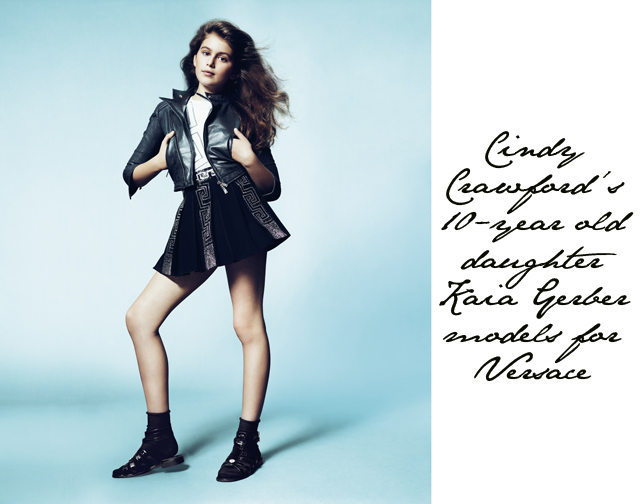 Cindy Crawford\'s daughter models for Versace