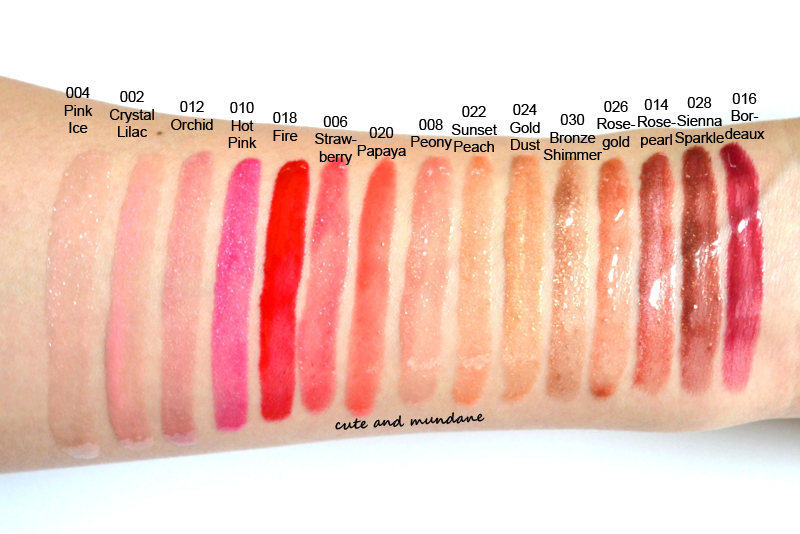 Cute and mundane: a rainbow of revlon colorburst lip glosses - review + swatches.