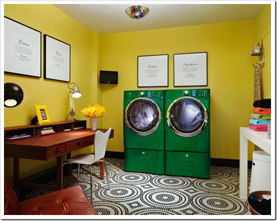 Why not room of the month the laundry room for Laundry room office