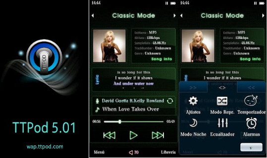 ttpod music player for s60v5