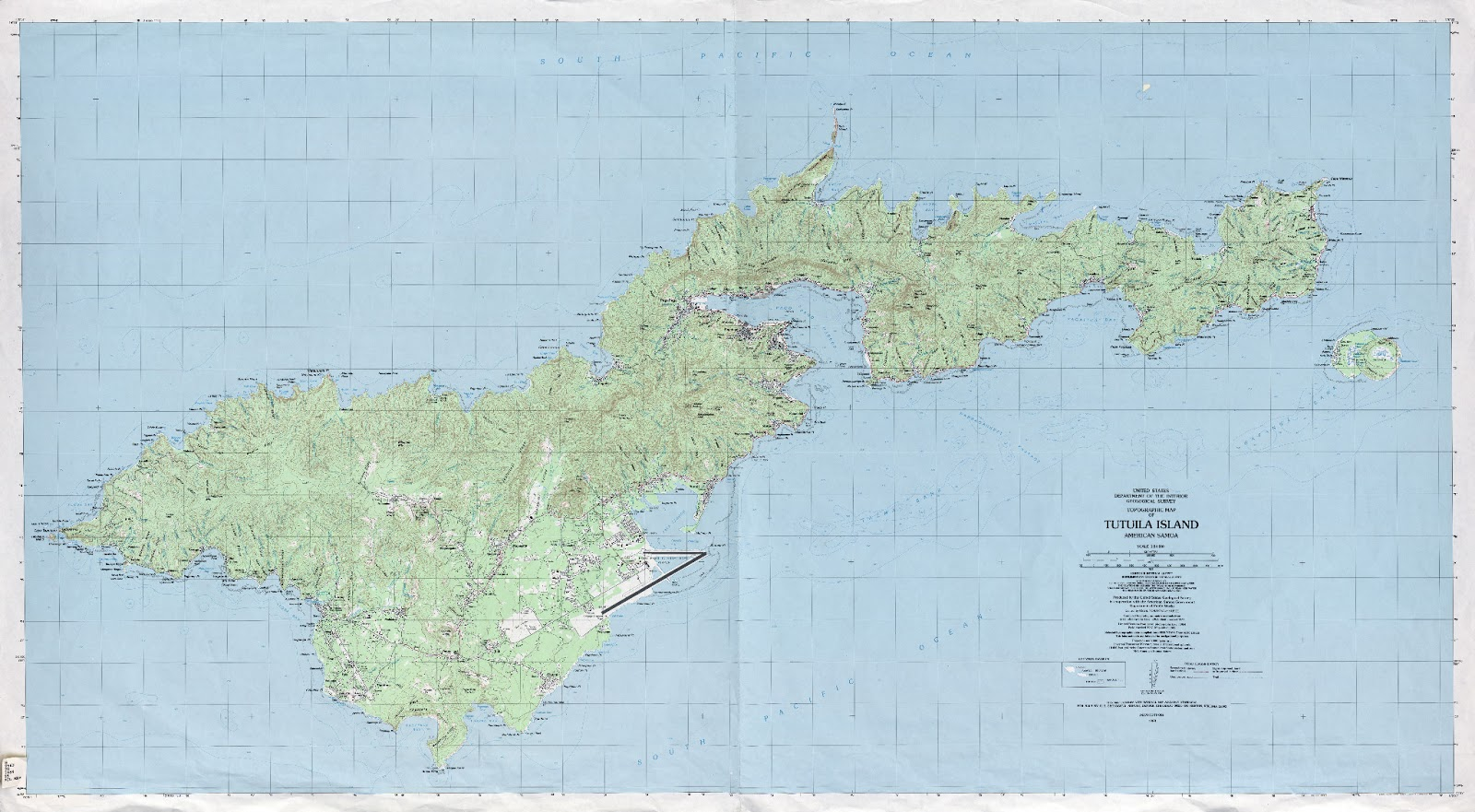 maps of american samoa usa