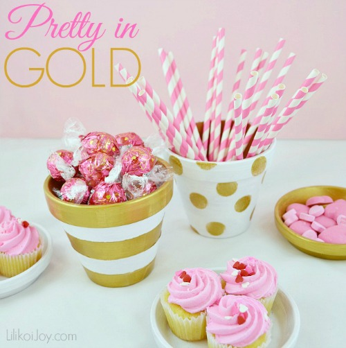 Craft Project: Three Looks with Clay Pots - Pretty in Gold