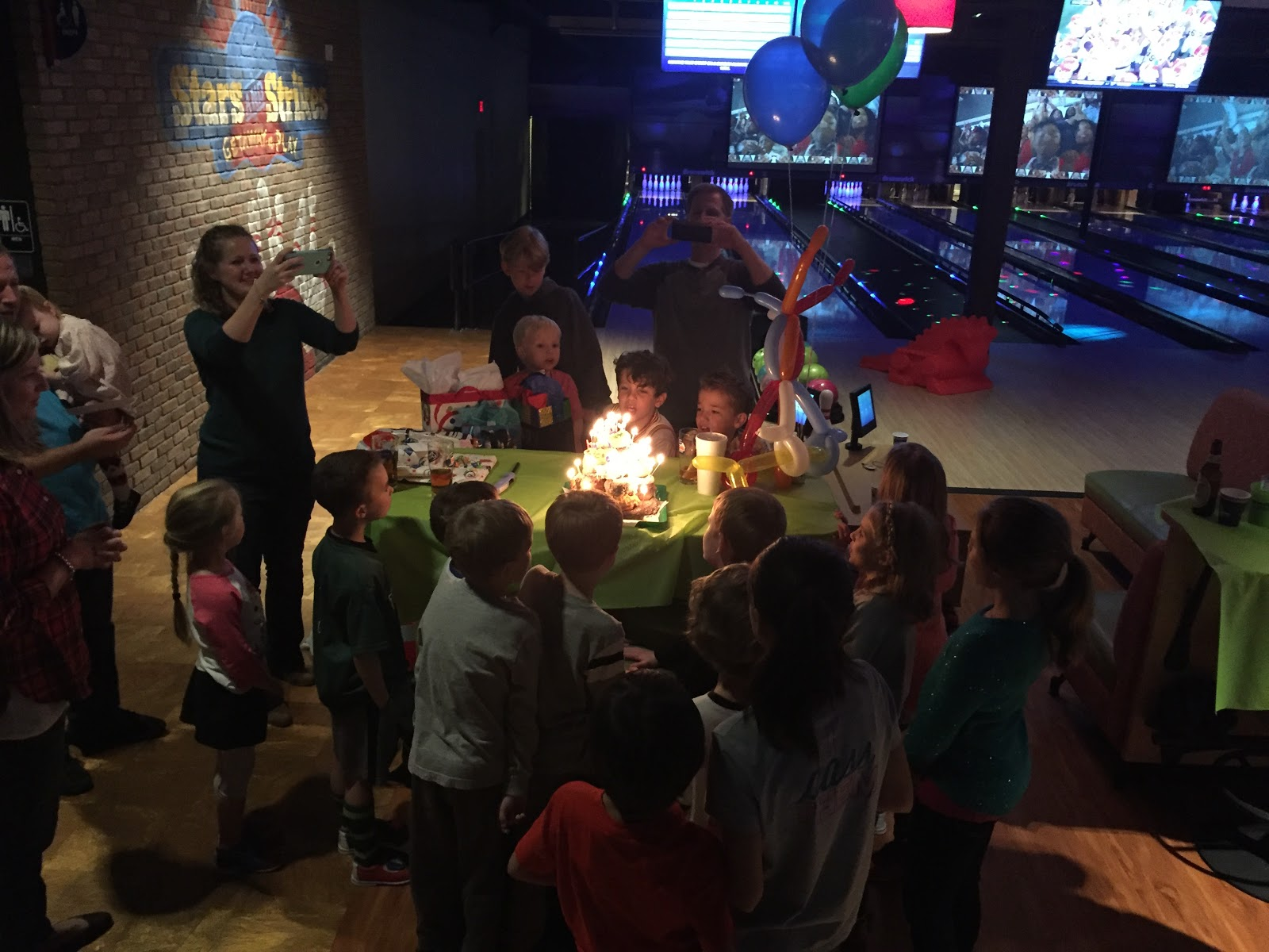 birthday party fun with friends Just Shy