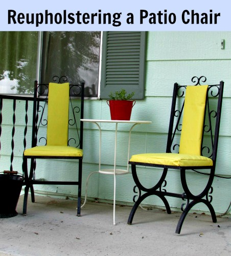 Awhile back I shared with you my list of DIY projects for the year. One of them was going to be my first ever upholstery project. & Reupholstering a Patio Chair | Home Maid Simple