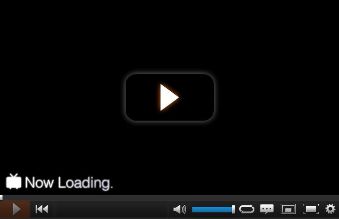 ニコニコ動画:Now Loading  動画がまったく読み込まれない時には、 この画面がずっと続く