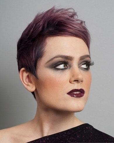 Short Purple Hair Style 2014