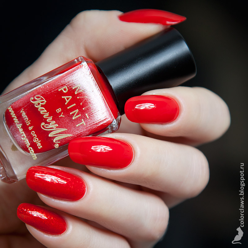 Barry M Bright Red + Orly Tiara