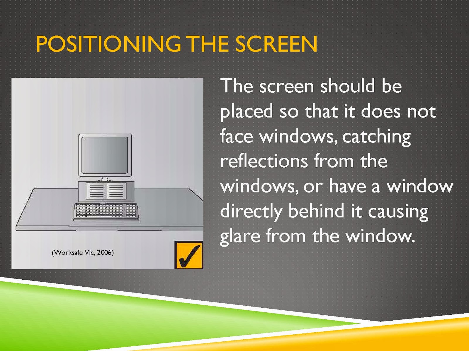 POSITIONING THE SCREENS