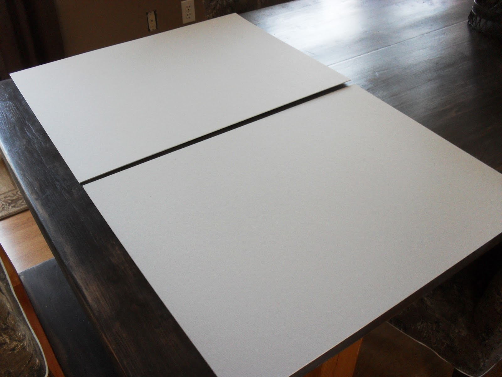 so i cut two pieces of matboard to that size then using spray adhesive i secured the boards together having two gives the blotter some strength - Desk Blotter