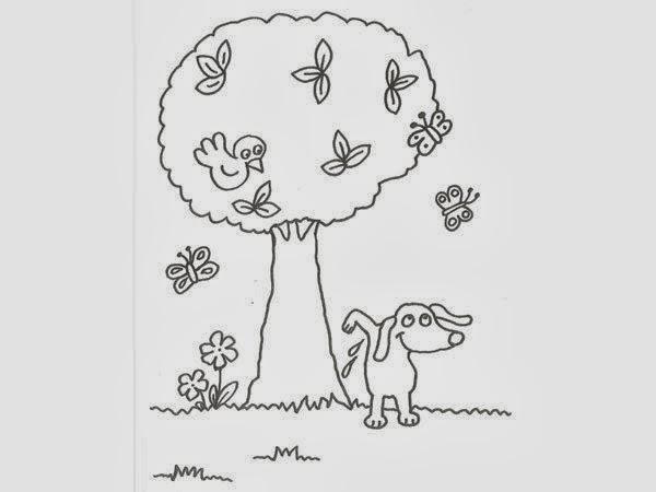 Dibujos de Arboles para Colorear, parte 2