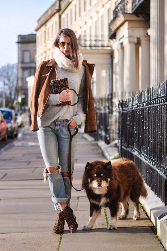 #finnishlapphund #ripped #jeans #leopard #print #biker #jacket