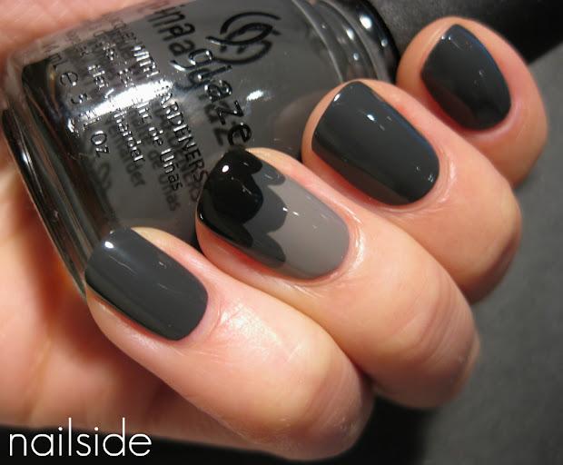 nail art design grey cloud