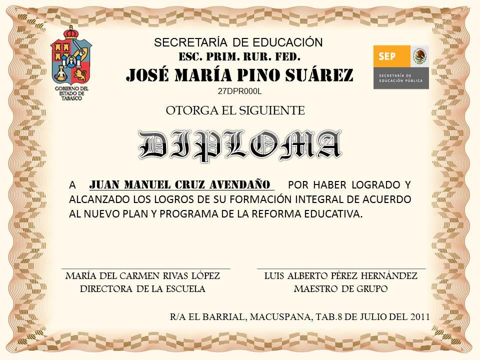 Diploma De Secundaria