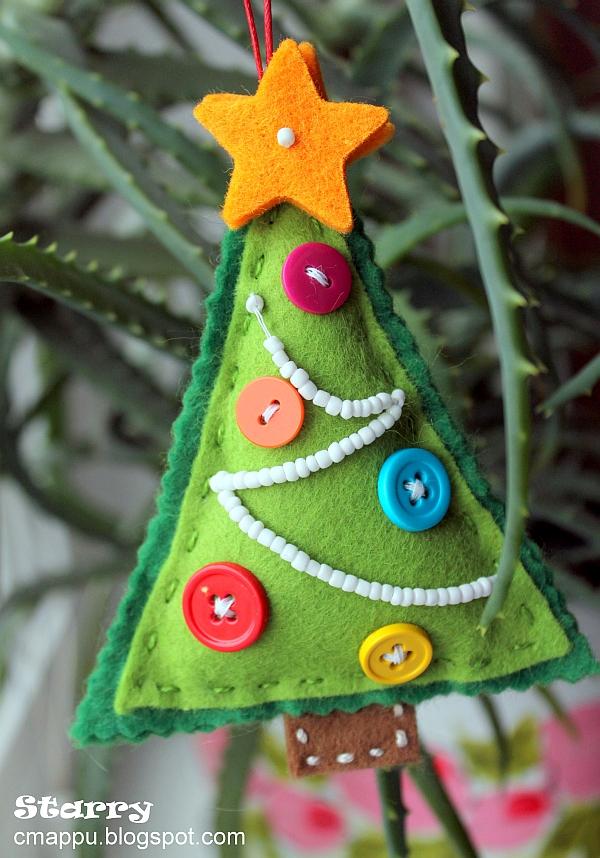 Christmas trees pine cone crafts on pinterest felt - Arbol de fieltro ...